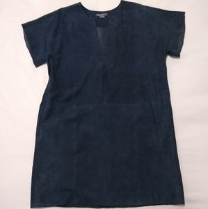 Vince suede leather dress medium blue